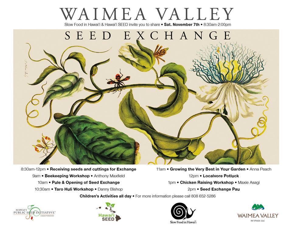 November 7th in Waimea Valley, North Shore, Oahu, Hawaii